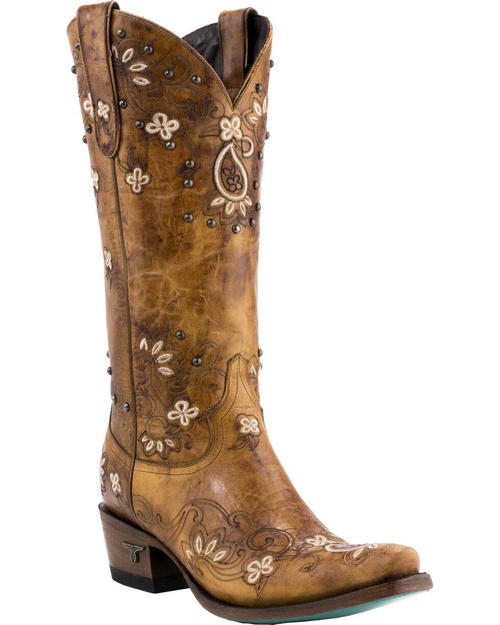 Lane Women's Sweet Paisley Boots - Snip Toe , Tan, hi-res