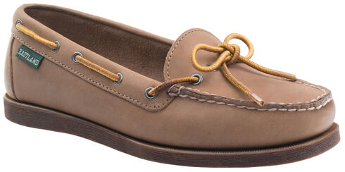 Eastland Women's Natural Yarmouth Camp Moc Slip-Ons, Natural, hi-res