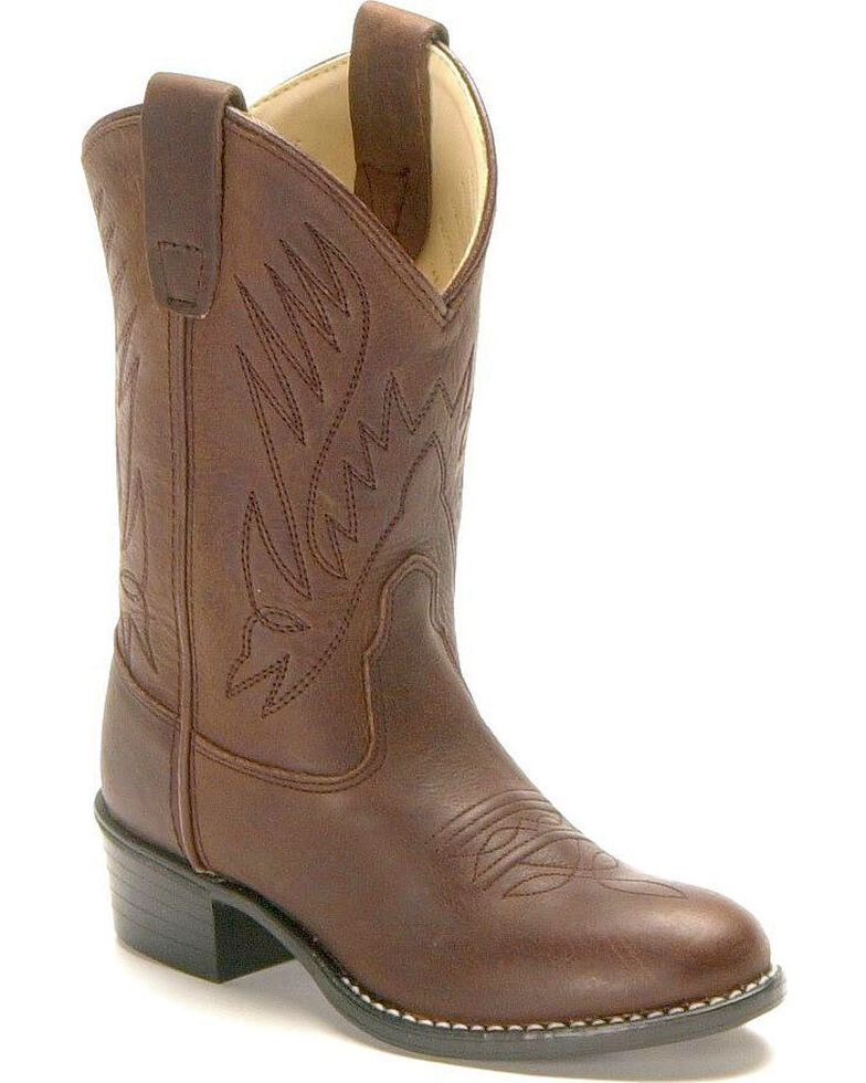 Old West Toddlers' Cowboy Boots - Round Toe, Distressed, hi-res