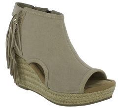 Minnetonka Women's Blaire Wedge Sandals, Sand, hi-res