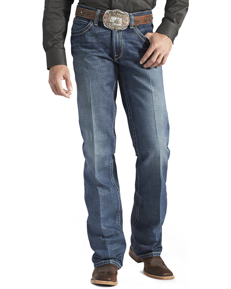 Ariat Men's M4 Gulch Relaxed Bootcut Jeans , Med Wash, hi-res