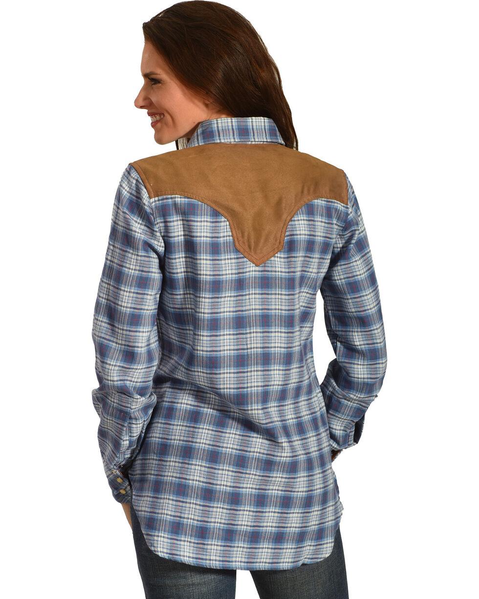 Tasha Polizzi Women's Warrior Indigo Plaid Shirt , , hi-res