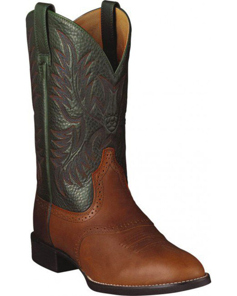 Ariat Heritage Stockman Cowboy Boots - Round Toe, Bay Brown, hi-res