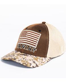3b00fbbcd4c67 Ariat Mens Digital Camo Patriotic Baseball Cap