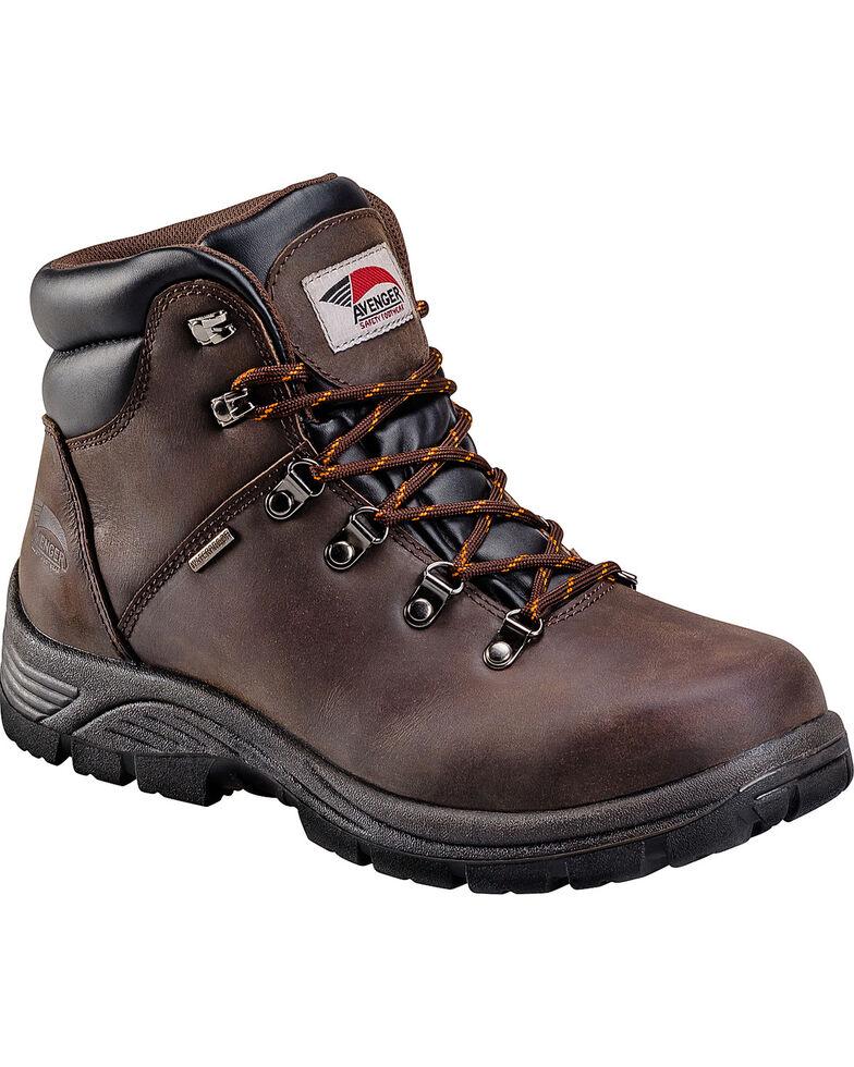 Avenger Men's Brown Waterproof Hiker EH Work Boots - Round Toe, Brown, hi-res