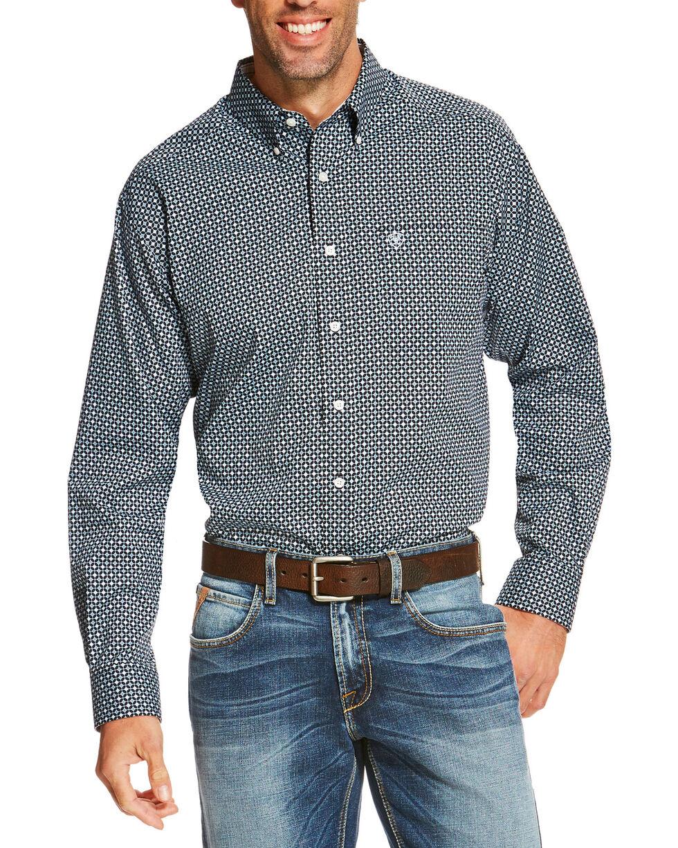 Ariat Men's Navy Ventana Diamond Print Western  Shirt , , hi-res