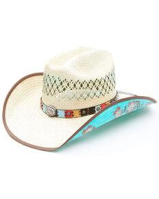 Bullhide Women's Too Good Straw Cowboy Hat , Natural, hi-res