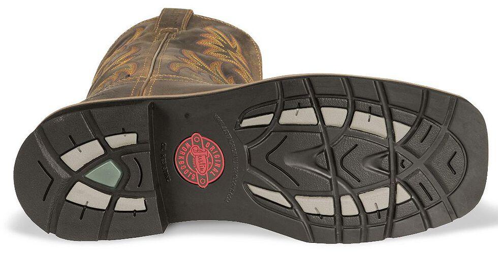 Justin Men's Stampede Driller EH Waterproof Work Boots - Steel Toe, Tan, hi-res