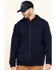Hawx Men's FR Zip Up Fleece Hooded Work Hoodie , Navy, hi-res