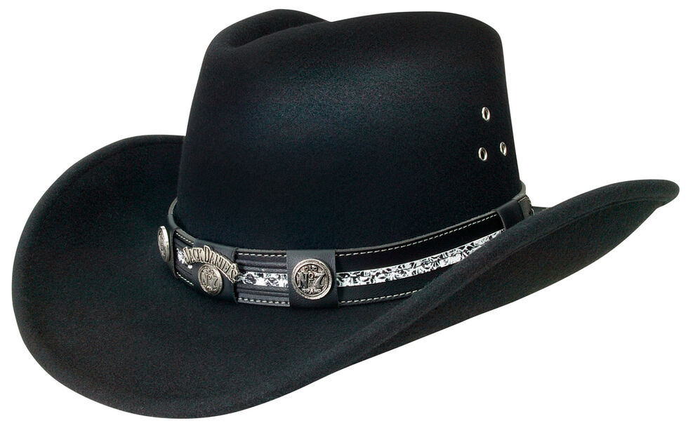 Jack Daniels Black Crushable Hat, Black, hi-res