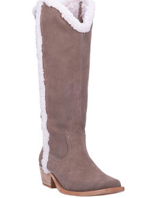Dingo Women's Jango Shearling Western Boots - Narrow Square Toe, Tan, hi-res