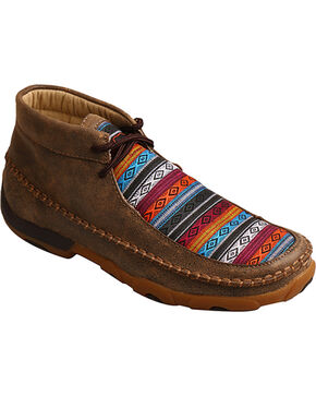 Twisted X Women's Multi-Colored Driving Moccasins, Brown, hi-res