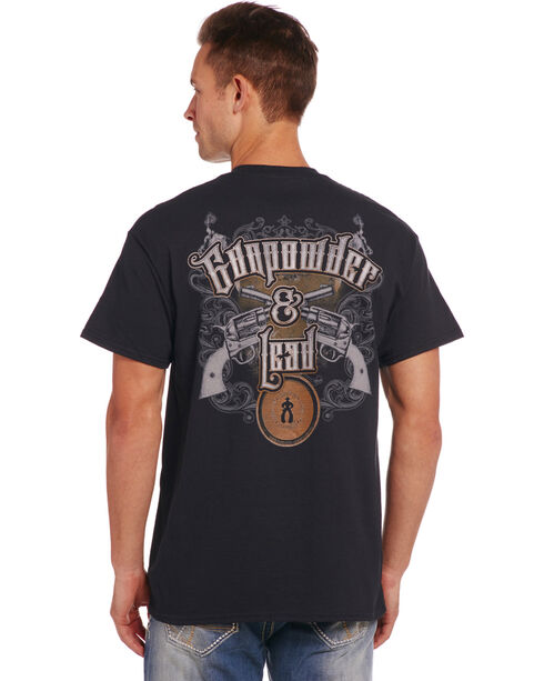 Cowboy Up Men's Black Gunpowder & Lead T-Shirt , Black, hi-res
