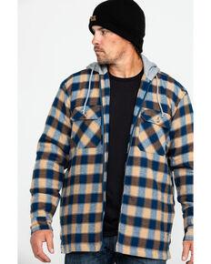 Wrangler Riggs Workwear® Men's Fleece Hooded Flannel Work Shirt , Navy, hi-res