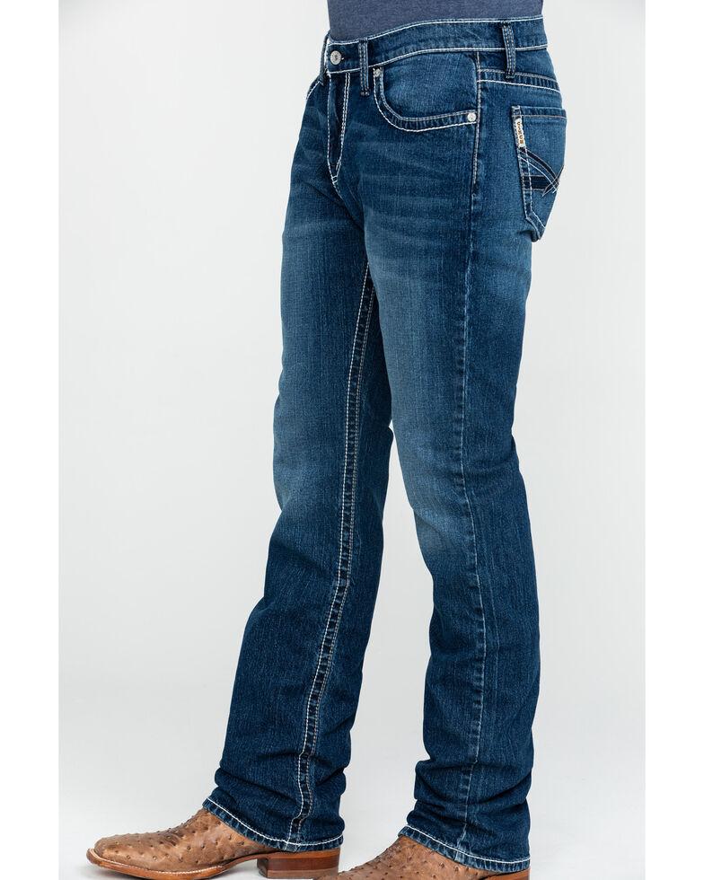 Cinch Men's Ian Medium Stone Wash Slim Boot Jeans , Indigo, hi-res
