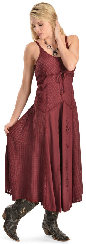 Scully Long Maxi Dress, Burgundy, hi-res