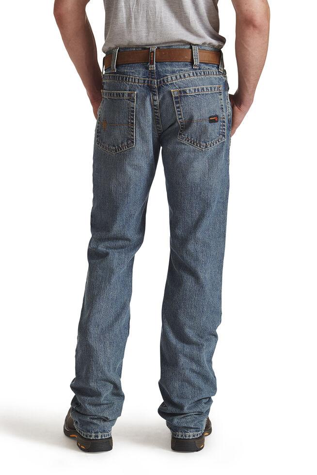 Ariat Men's Flame-Resistant M5 Straight Leg Work Jeans, Blue, hi-res