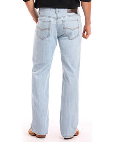 Rock & Roll Cowboy Men's Light Blue Double Barrel Jeans - Straight Leg , Light Blue, hi-res