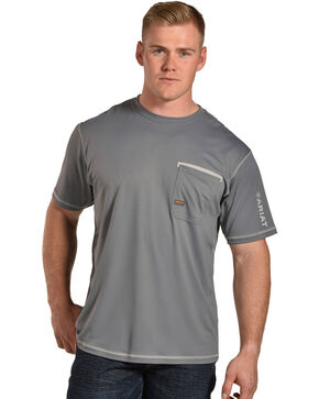 Ariat Men's Rebar Freeze Point Crew, Grey, hi-res