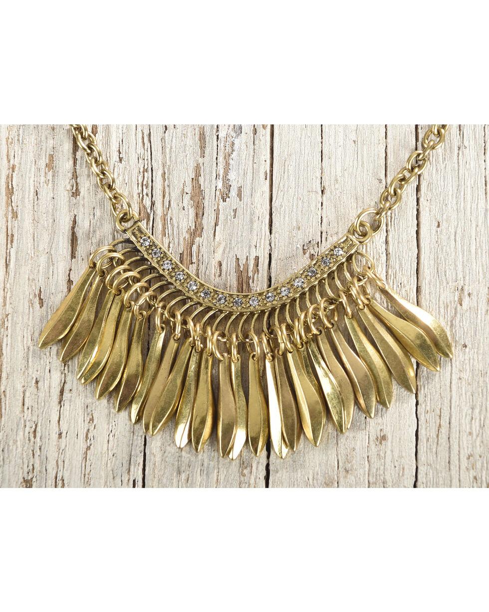 Shyanne Women's Double Layer Cross Necklace, Gold, hi-res