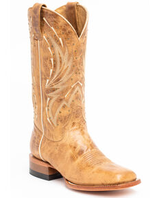 ed27a792a0 Shyanne Womens Studded Tan Western Boots - Wide Square Toe, Tan, hi-res