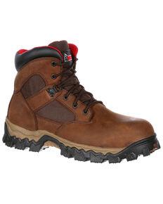 "Rocky Men's Alphaforce Waterproof 6"" Work Boots - Safety Toe, Brown, hi-res"