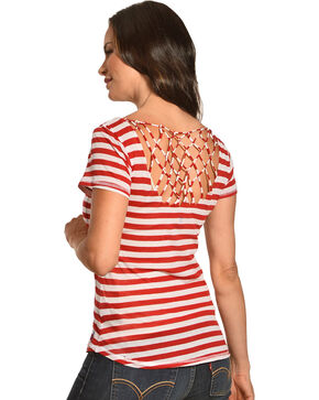 Browning Women's Red Marigold Striped Tee , Red, hi-res
