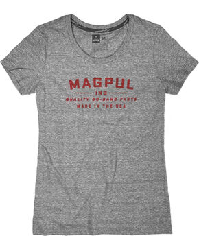 Magpul Women's Megablend Women's Crew-Neck Go Bang T-Shirt , Heather Grey, hi-res