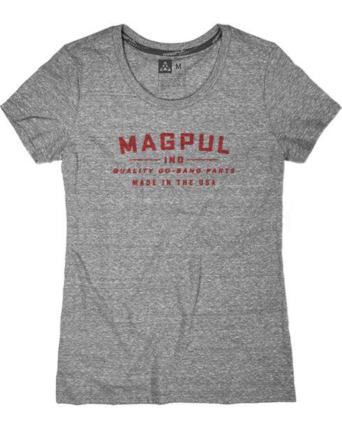 Magpul Women's Megablend Women's Crew-Neck Go Bang T-Shirt , Heather Grey, hi-res