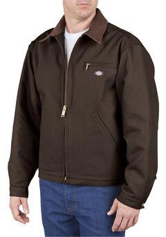 Dickies Blanket Lined Duck Jacket - Big & Tall, Chocolate, hi-res