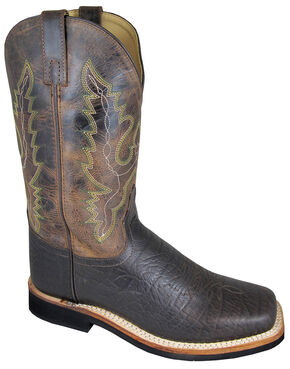 Smoky Mountain Men's Roger Cowboy Boots - Wide Square Toe, Brown, hi-res
