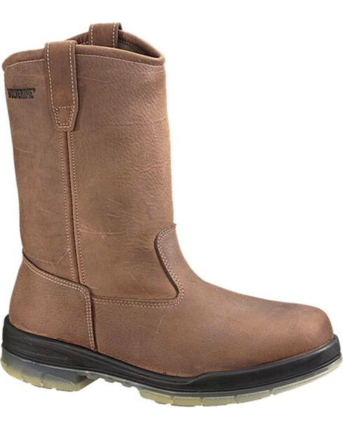 Wolverine Men's DuraShocks® Insulated Waterproof Wellington Boots, Brown, hi-res