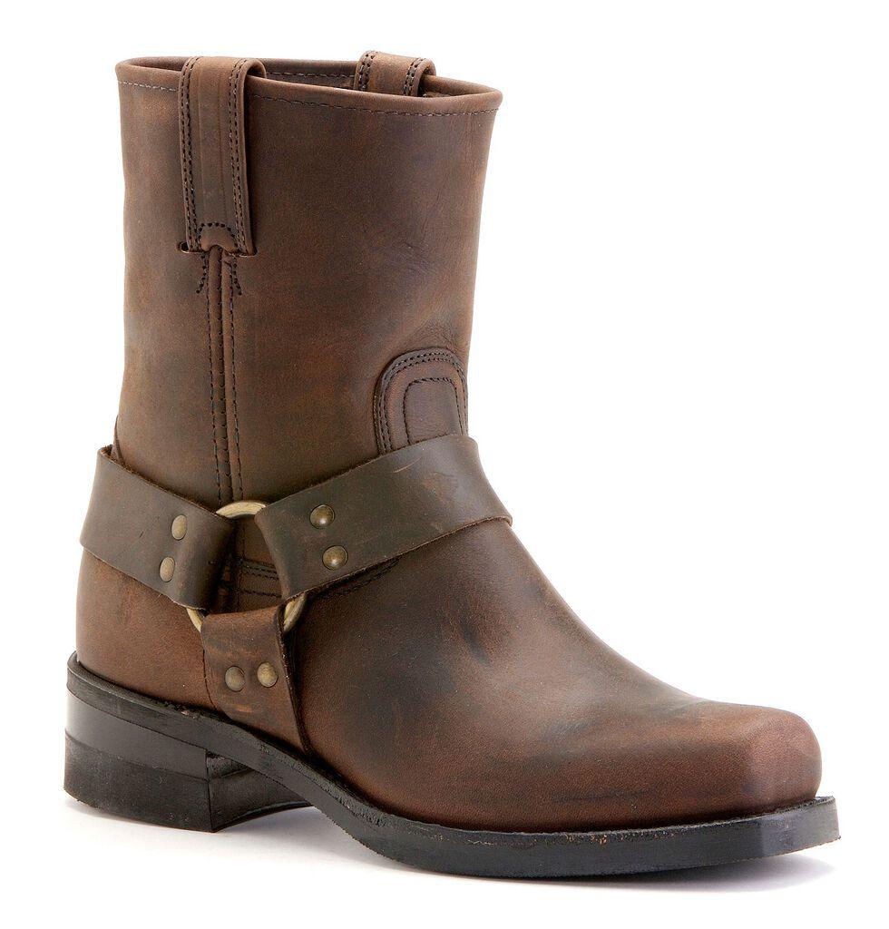 Frye Men's Belt Harness 8R Boots - Square Toe, Gaucho, hi-res