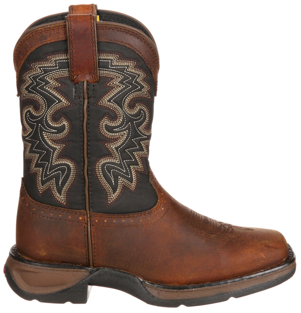 Durango Youth Boys' Western Boots - Square Toe, Tan, hi-res