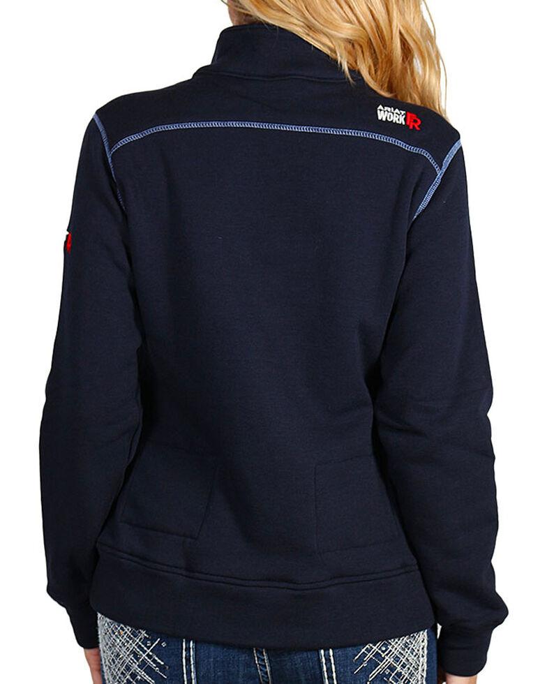 Ariat Women's Flame Resistant Polartec Fleece Sweatshirt, Navy, hi-res