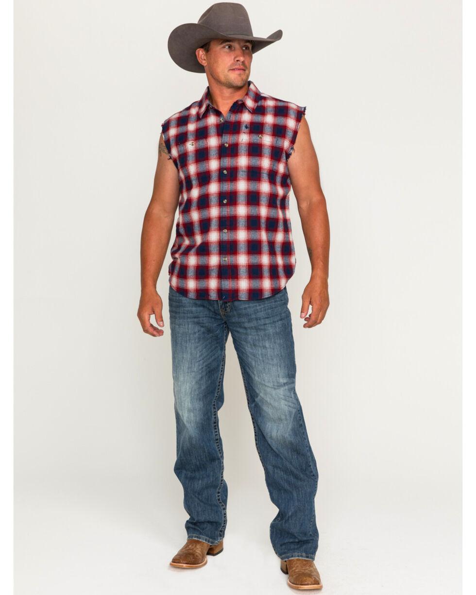 Cody James Men's Patriot Sleeveless Button Down Shirt, Blue, hi-res