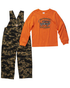 Carhartt Toddler Boys' Camo T-Shirt And Overall Set , Camouflage, hi-res