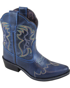 Smoky Mountain Youth Girls' Blue Juniper Western Boots - Pointed Toe , Brown, hi-res