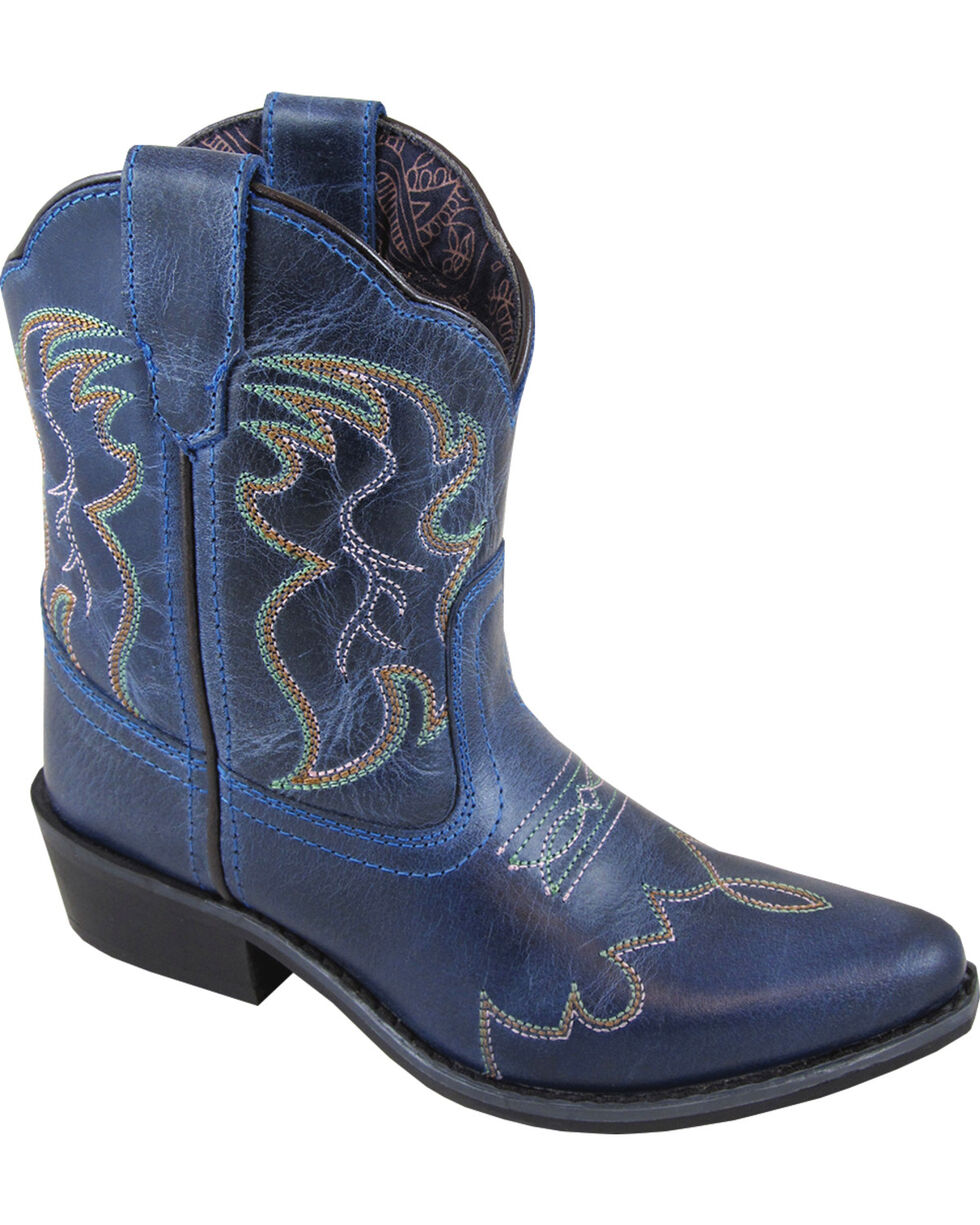 Smoky Mountain Youth Girls' Blue Juniper Western Boots - Pointed Toe , Blue, hi-res