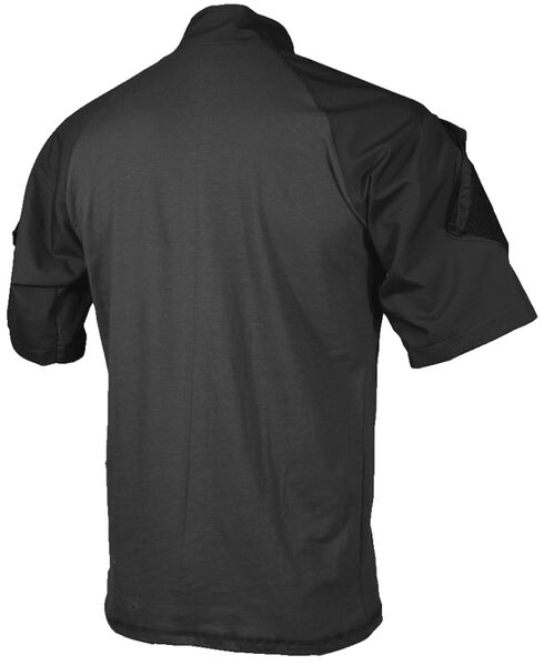 Tru-Spec Men's Black TRU Combat 1/4 Zip Shirt, Black, hi-res