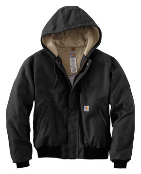 Carhartt Flame-Resistant Duck Active Hooded Jacket - Big & Tall, Black, hi-res