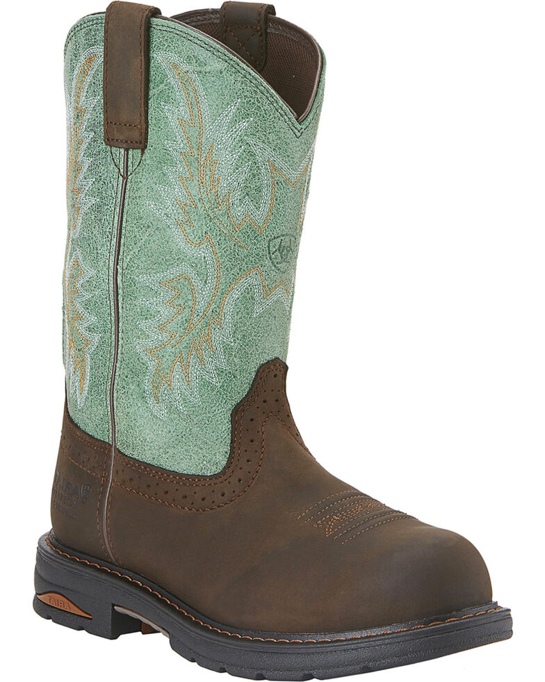 Ariat Waterproof Tracey Pull-On Waterproof Work Boots - Composite Toe, Distressed, hi-res