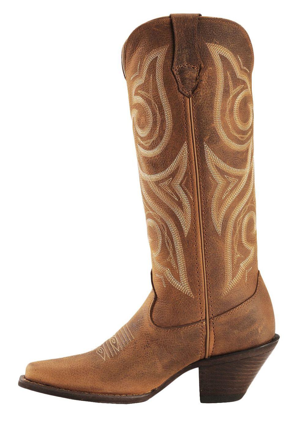 Crush by Durango Women's Jealousy Western Boots - Square Toe, Cognac, hi-res