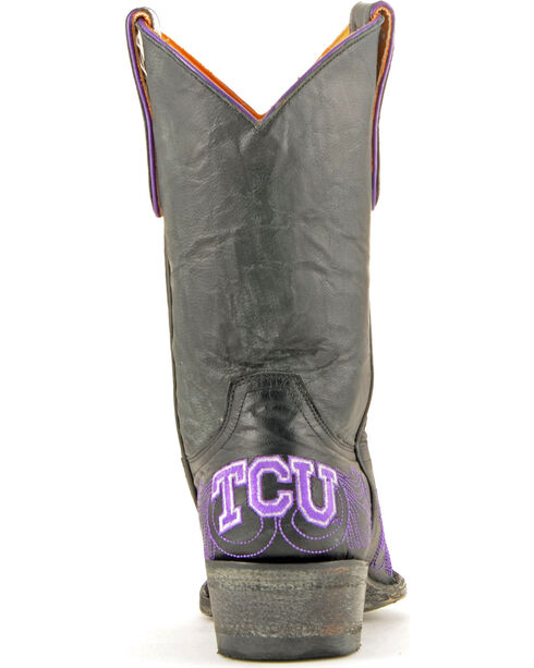 Gameday Texas Christian University Cowgirl Boots - Snip Toe, Black, hi-res