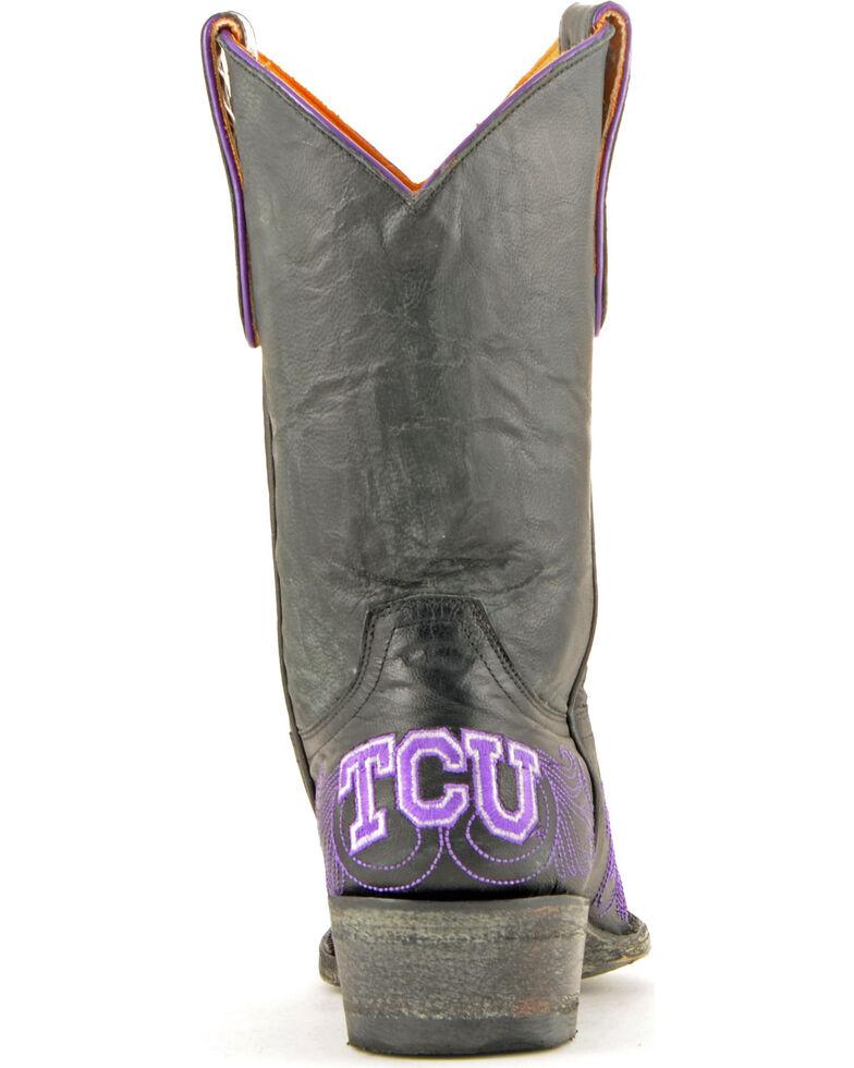 Gameday Texas Christian University Cowgirl Boots - Snip Toe, Black, hi-res