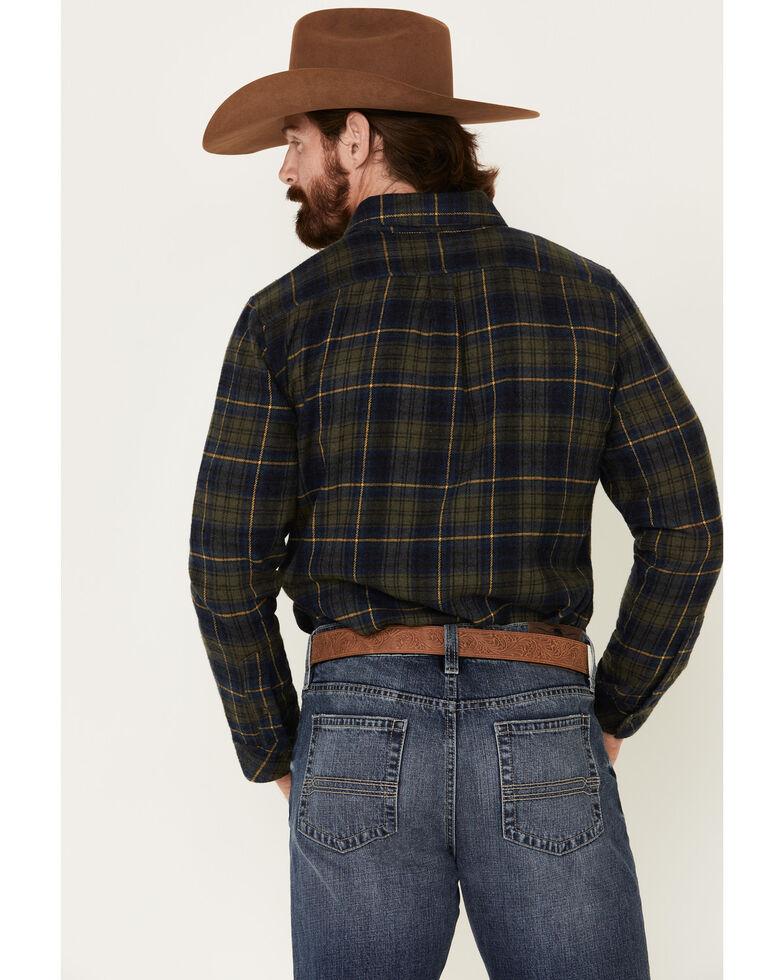 United By Blue Men's Dark Olive Responsible Plaid Long Sleeve Western Flannel Shirt , Olive, hi-res