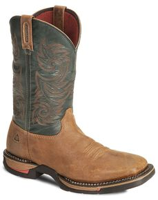 Rocky Brown Long Range Waterproof Pull On Work Boot - Sq Toe, Brown, hi-res