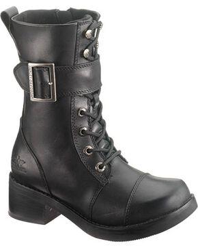 Harley Davidson Jammie Women's Black Boots - Round Toe, Black, hi-res