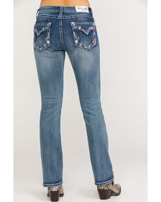 "Grace in LA Women's Medium Stars Easy Bootcut 32"" Jeans , Blue, hi-res"