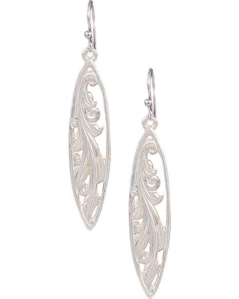 Montana Silversmiths Women's Western Marquise Grace Earrings , Silver, hi-res